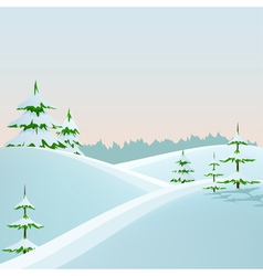 winter styled landscape vector image