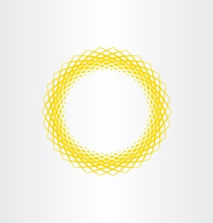 yellow sun abstract circle background vector image