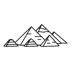 Ancient Egyptian pyramids vector image vector image