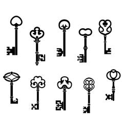 Old and vintage keys set vector image vector image