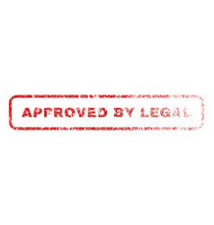 approved by legal rubber stamp vector image