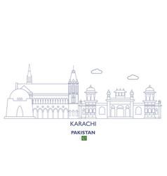karachi city skyline vector image vector image