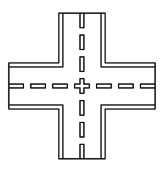 Crossing road icon outline style vector image