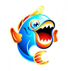 fun fish vector image