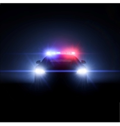 Police car with full array of lights vector