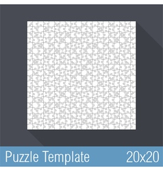 Puzzle Template 20x20 vector image vector image