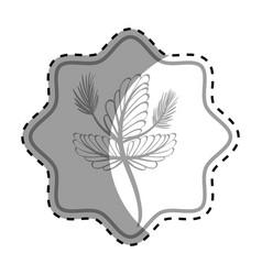 emblem rustic flower decoration design vector image