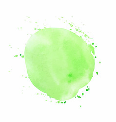 green round watercolor texture vector image