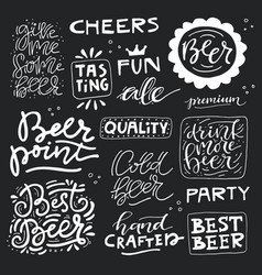 hand drawn beer vector image