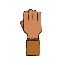 hand up silhouette vector image