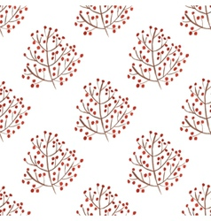Watercolor seamless pattern with red berry vector image vector image