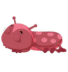 A red caterpillar cartoon vector