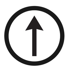 Ahead only and drive straight sign line icon vector