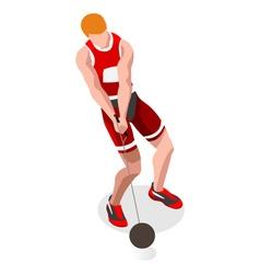Athletics hammer throw 2016 sports 3d vector