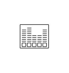 audiobars icon vector image