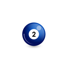 Blue billiard ball number 2 vector
