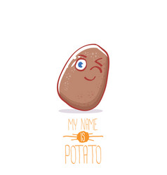 brown cute little kawaii potato cartoon vector image