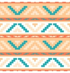 Buttercream stripped tribal geometric pattern vector