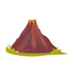 Cartoon hot volcano with magma and lava vulcano vector