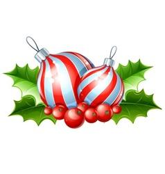 christmas decoration of ball vector image