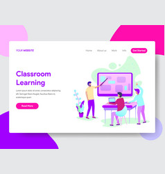 classroom learning method concept vector image