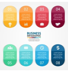 color stickers and labels for infographic Template vector image