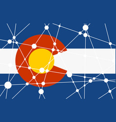 Colorado flag concept vector