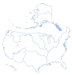 Map of the great lakes basin Royalty Free Vector Image