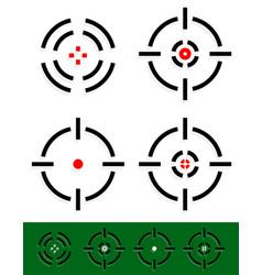 Crosshair reticle target mark set 4 different vector