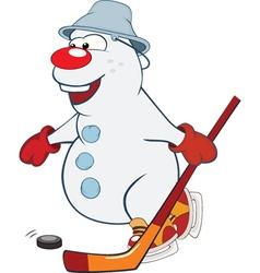 Cute snowball Ice Hockey Forward vector image