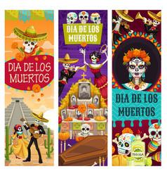 day dead dia de los muertos holiday celebration vector image
