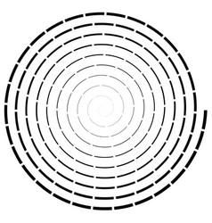Design elementradial swirl twirl wavy curvy vector
