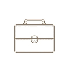 Flat Line briefcase Icon vector image