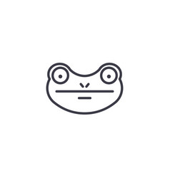 frog line icon sign on vector image