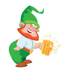 Gnome and beer vector