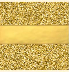 golden glitter background with golden foil babber vector image