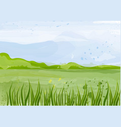 green field background spring vector image