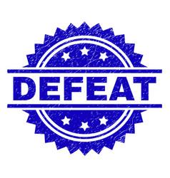 Grunge textured defeat stamp seal vector