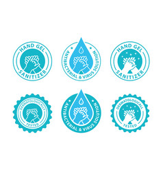 Hand gel sanitizer logo vector