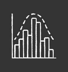 histogram chalk icon diagram business trade info vector image