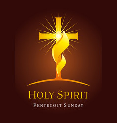 Holy spirit card vector