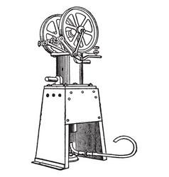 Hot-air motor vintage vector