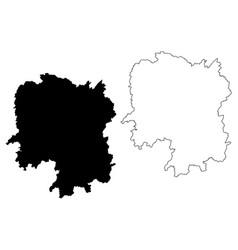 hunan province map vector image