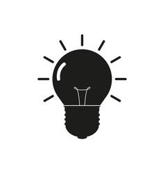 icon bulb vector image