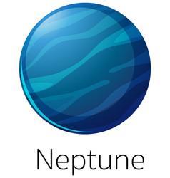 Isolated neptune on white background vector