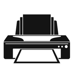 Jet printer icon simple style vector