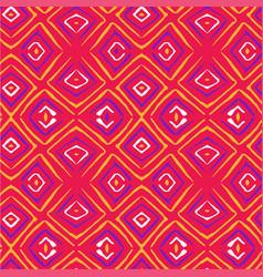 Linocut rhombus seamless contrast pattern vector