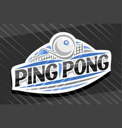 Logo for ping pong sport vector