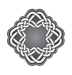 Logo template in celtic knots style stylish vector