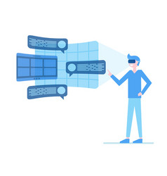 man in virtual reality glasses vector image